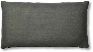 One Kings Lane Ada Long Lumbar Pillow - Charcoal Linen - 12x23