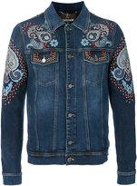 Roberto Cavalli patch embellished denim jacket