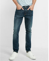 Express Skinny Light Distressed Jeans