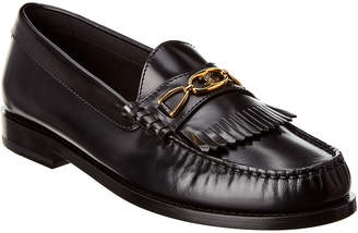 Celine Triomphe Leather Moccasin