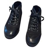 Gucci Black Suede Sneakers