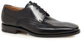 Loake Black Leather Seamed Shoes