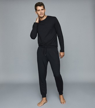 Reiss Armstrong - Crew Neck Jersey Top in Charcoal