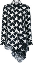 Givenchy lace hem star print shirt