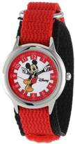 Disney Kids' W000247 Mickey Mouse Stainless Steel Time Teacher Watch with Moving Hands