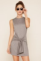 Forever 21 FOREVER 21+ Heathered Tie-Front Dress