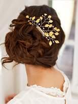 Missgrace Vintage Leaves Bridal Hair Comb Wedding Hair Accessories