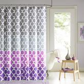 Dani Printed Shower Curtain and Hook Set - Purple