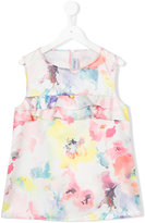 Simonetta floral print ruffled top - kids - Polyester - 14 yrs