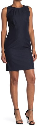 T Tahari Solid Sleeveless Sheath Dress