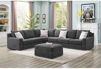 "Wrought Studio Makah 5 Seater 137"" Left Hand Facing Modular Sectional with Ottoman"