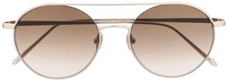 Linda Farrow 1031-C4 round sunglasses