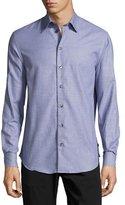 Armani Collezioni Tonal Mini-Check Dress Shirt