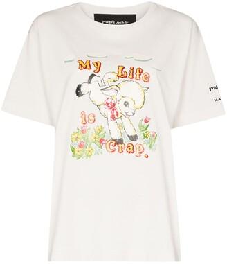 Marc Jacobs x Magda Archer cartoon logo T-shirt