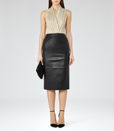 Reiss Birdie SUEDE AND LEATHER DRESS