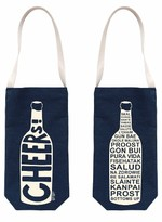 Map Tote Maptote Cheers Wine Bottle Tote - Blue