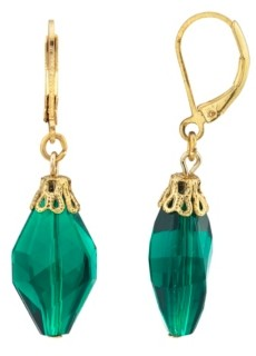 2028 14K Gold Dipped Drop Bead Earring