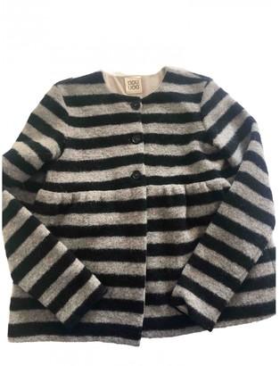 Douuod Black Wool Jacket for Women