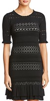 Thumbnail for your product : Bailey 44 Short-Sleeve Lace Sweater Dress