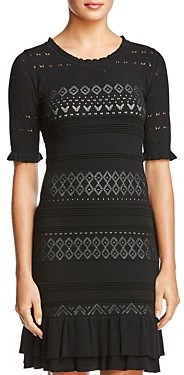 Bailey 44 Short-Sleeve Lace Sweater Dress