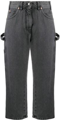 MM6 MAISON MARGIELA High Waist Cropped Jeans