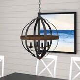 Laurèl Ingrid 4 - Light Lantern Globe Chandelier Foundry Modern Farmhouse