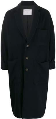 Societe Anonyme notch collar oversized coat