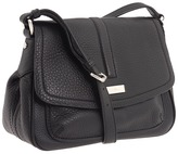 Cole Haan - Ava Flap Crossbody (Black) - Bags and Luggage