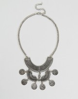 NY:LON Statement Coin Tassel Necklace