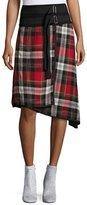 Public School Ilha Plaid High-Waist A-Line Skirt