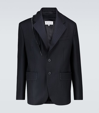 Maison Margiela Deconstructed pinstriped blazer