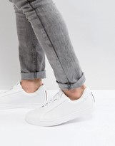 Luke 1977 Robshaw Concealed Eyelet Trainers In White