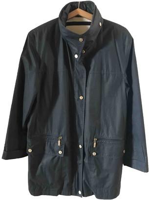 Basler Navy Cotton Coat for Women