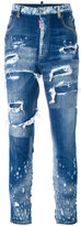 DSQUARED2 Glam Head distressed jeans - women - Cotton/Polyester/Spandex/Elastane - 38