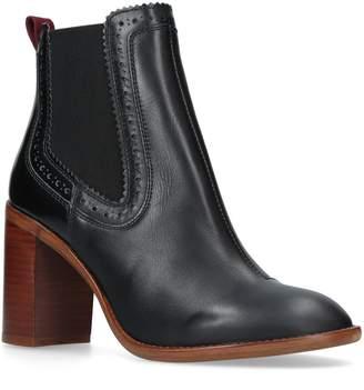 Kurt Geiger London Leather Safari Ankle Boots