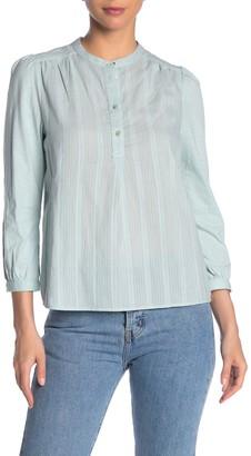 Lucky Brand Dobby Stripe Henley Shirt