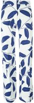 Marni leaf print trousers