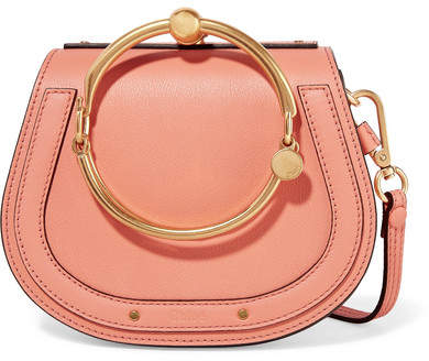 Chloé Nile Bracelet Small Leather And Suede Shoulder Bag - Peach