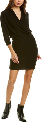 Three Dots Brushed Wrap Sweaterdress