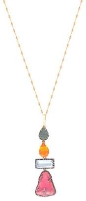 Sharon Khazzam Lavale Platinum, 18K Yellow Gold & Mixed-Stone Pendant Necklace