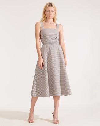 Veronica Beard Positano Gingham Seersucker Dress