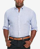 Polo Ralph Lauren Men's Big & Tall Striped Linen Sport Shirt