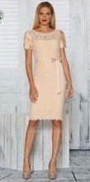 NUE by Shani Ruffle Sleeve Lace Dress