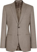 Reiss Tuscan B - Modern-fit Wool Blazer in Brown, Mens