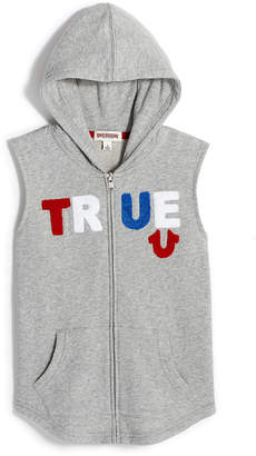 True Religion BOYS TRUE SLEEVELESS ZIP HOODIE