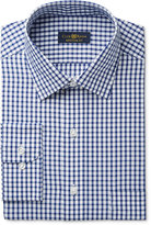 Club Room Estate Men's Classic-Fit Wrinkle-Resistant Navy Check Dress Shirt, Only at Macy's