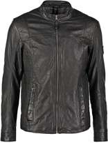 Mustang Louis Leather Jacket Black
