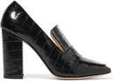 Iris and Ink Croc-effect leather pumps