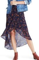Madewell Women's Climbing Vine Faux Wrap Midi Skirt