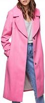 Miss Selfridge Midi Coat, Pink